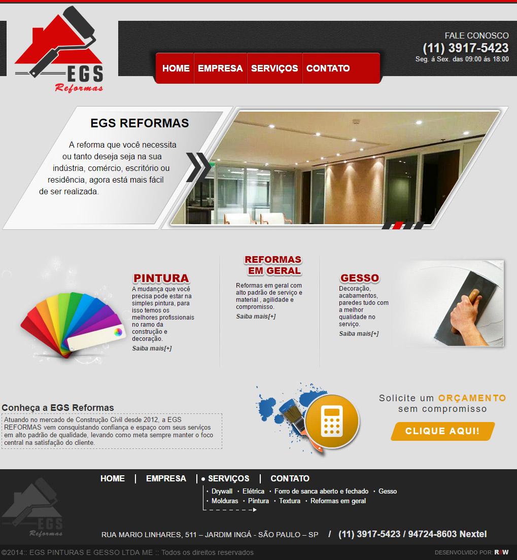 Cliente - EGS Reformas - R2W Agência Web