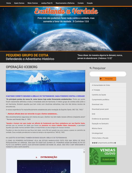 Cliente - Exaltando a Verdade - R2W Agência Web