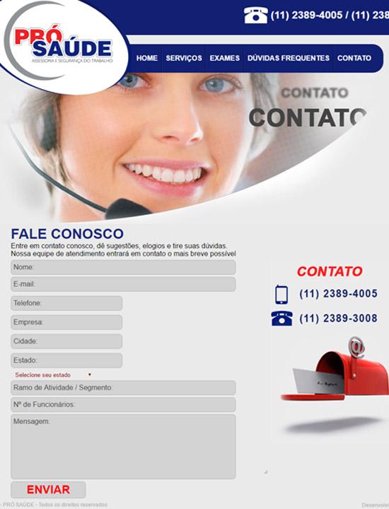 Cliente - Pró Saúde - R2W Agência Web
