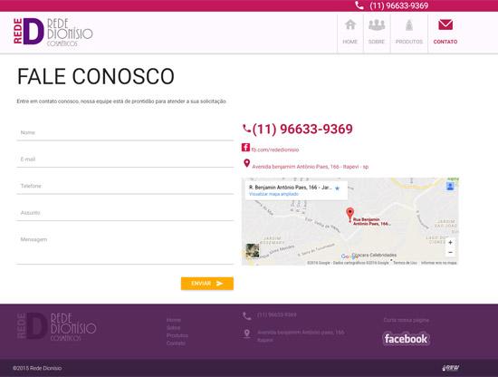 Cliente - Dionísio Cosméticos - R2W Agência Web
