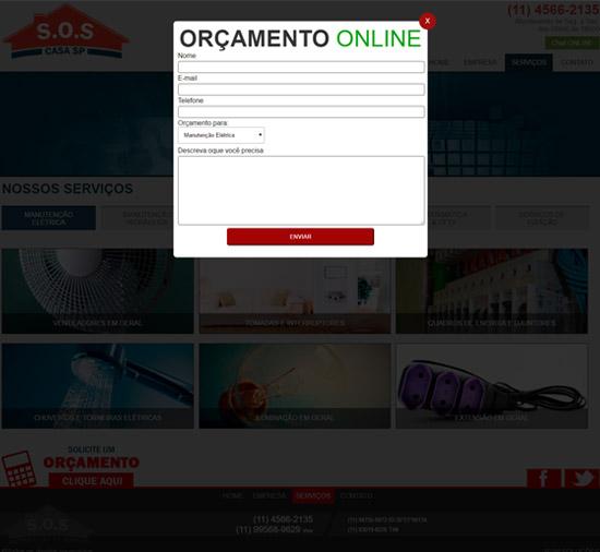 Cliente - SOS Casa SP - R2W Agência Web